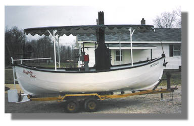 Boat with Bimini Top
