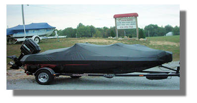 Custom made boat cover