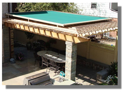 Awning for a pergola